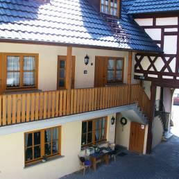 Innenhof Gästehaus Kohles Prichsenstadt
